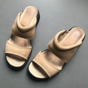 Ariat Tan Leather Sandals, Slides, Women's 8.5